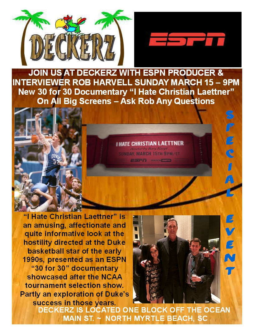 Deckerz & ESPN Present Producer / Interviewer Rob Harvell